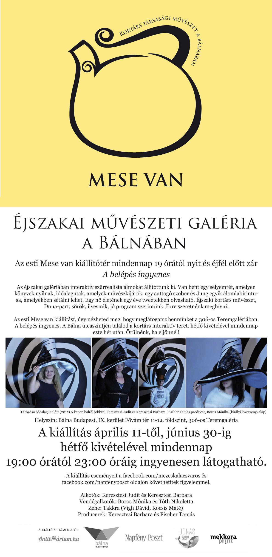 Mese van - kortárs társasági művészet a Bálnában